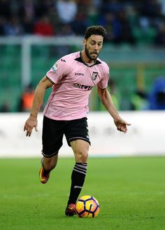 Andrea Rispoli of Palermo in action during the Serie A match between US Citta di Palermo and AC ChievoVerona at Stadio Renzo Barbera on December 11, 2016 in Palermo, Italy.