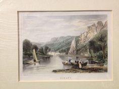 Dinant, Meuse, Namur, Belgium - c1840 Hand Coloured Engraving - Salmon - Shury