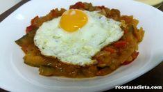 PISTO DE VERDURAS - Recetas a dieta Eggs, Breakfast, 3, Food, Entrees, Tasty, Healthy Recipes, Morning Coffee, Eten