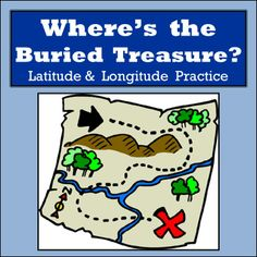 If you are looking for a fun way to get students to practice their latitude and longitude skills while using an atlas then this might be just what you need.  Included in this product are 10 latitude and longitude activities where students are given a set of coordinates and each coordinate will lead them to a country.  Once they find all the countries they take the first letter of each country and that will spell out the country where the buried treasure is located.