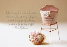 Dollhouse Miniatures, Miniature Food Jewelry, Craft Classes: Flower Quote