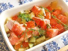 鮭は白身魚だって知ってた?サーモンとキウイの美容食レシピ♪