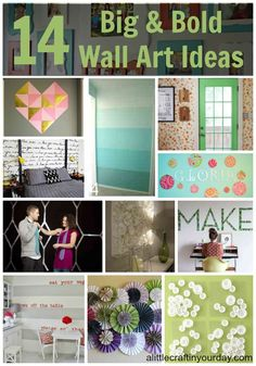 14 Big and Bold Wall Art Ideas - A Little Craft In Your DayA Little Craft In Your Day