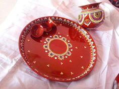 Arti Thali Decoration, Kalash Decoration, Diwali Decorations At Home, Wedding Decorations, Birthday Explosion Box, Laddu Gopal Dresses, Wire Art Sculpture, Cd Crafts, Festival Celebration