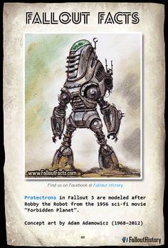 Tickets please!  More cool facts:http://ift.tt/1gAiljD  fallout twitter protectron protectrons robby the robot forbidden planet