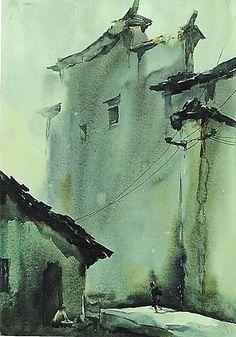 'Xidi Autumn' by Qiao Yulin (Chinese artist)