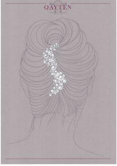 Hair clip: akoya pearls and diamonds