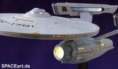 Star Trek: U.S.S. Enterprise NCC-1701 (mit Beleuchtung), Modell-Bausatz ... http://spaceart.de/produkte/st047.php