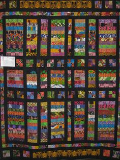 Serengeti Serenade, African fabric quilt, Jackie Kunkel, Canton CT