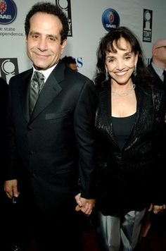 Tony Shalhoub and Brooke Adams.  Yes, they are married, and she has appeared in several episodes of Monk.