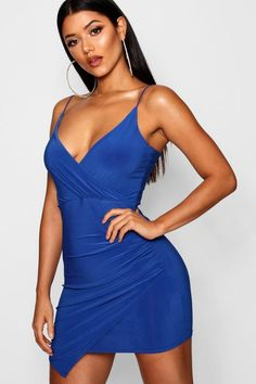 3cba7fba348c Wrap Detail Bodycon Dress - boohoo party dress, special occasion dress,  going out dress