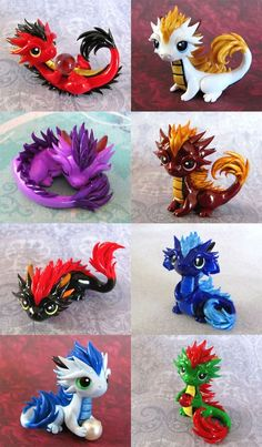 Baby Orientals 2 by DragonsAndBeasties on DeviantArt You are in the right place about Polymer Clay Crafts creative Here we offer you the most beautiful pictures about the Polymer Clay Crafts pokemon y Polymer Clay Dragon, Polymer Clay Figures, Cute Polymer Clay, Polymer Clay Animals, Cute Clay, Polymer Clay Crafts, Polymer Clay Creations, Dragon Crafts, Dragon Art