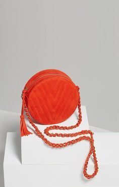 BCBGMAXAZRIA Chantel V-Quilt Round Bag