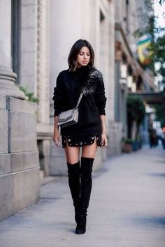Thigh high boots can be surprisingly versatile, as you'll discover when you take a look at our selections. They look great with jeans and add to the sleekness of casual attire with with contrasting colours and a tight fit that emphasises leg length, but their year-round appeal doesn't stop there. Check our tips on ways to style your thigh highs throughout the year: