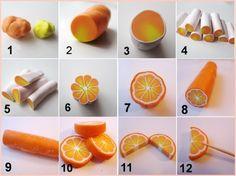 Mandarine en pâte polymère
