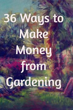 There are so many ways to make money from gardening projects. With the increased interest in gardening and eating fresh produce, opportunities range: growing plants, selling products, helping others with their gardens, blogging, and more. Here I list 36 ideas. Some require strength, some require tools,but many don't. No matter your abilities and living situation, there are likely ways that you could come up with some gardening income. I'm not writing about gardening jobs here, though they do…