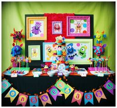 Monster party with lots of great DIY ideas!