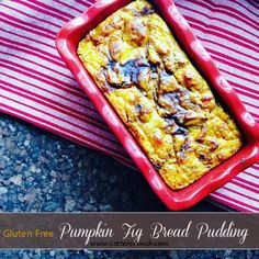 pumpkin fig bread pudding (paleo option)