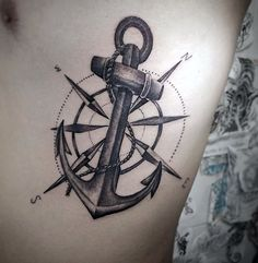 Manly Men's Compass Rose Tattoo Designs