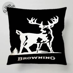 Browning Deer Hunting pillow case, cover ( 1 or 2 Side Print With Size 16, 18, 20, 26, 30, 36 inch )