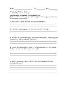 Political Cartoon Worksheet Worksheets For School - Studioxcess