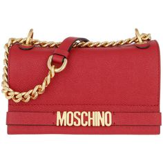 Moschino Shoulder Bag - Logo Chain Crossbody Bag. Burgundy - in red -... (25.503.980 VND) ❤ liked on Polyvore featuring bags, handbags, shoulder bags, red, shoulder hand bags, hand bags, purses crossbody, shoulder strap handbags and leather crossbody handbags