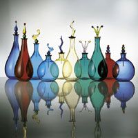 Murano glassware shelf