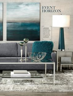 Blue Moon | sp16 living4 | Living Room | Inspiration | Z Gallerie ...