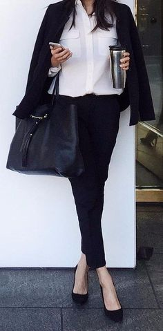 how+to+wear+black+and+white+to+work