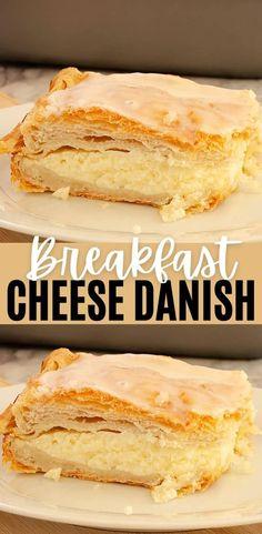 Cream Cheese Crescent Rolls, Crescent Roll Recipes, Crescent Roll Cheese Danish Recipe, Easy Cream Cheese Danish Recipe, Soften Cream Cheese, Cake With Cream Cheese, Easy Desserts, Dessert Recipes, Apple Desserts