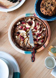 hazelnut cranberry apple tart