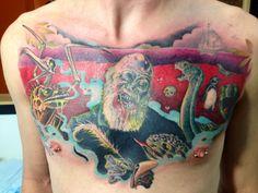 Charles Darwin- Reanimated. by Josh Wallis at Pumpkin Tattoo in Boston, MA.