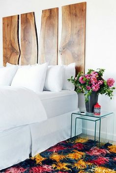 kreative awandgestaltung mit farbe wanddesign ideen sprueche einrichtung puristisch holz - Kreative Wandgestaltung Mit Farbe