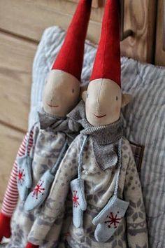 Danish Christmas, Scandi Christmas, Christmas Decorations, Christmas Ornaments, Fabric Art, Elves, Gnomes, Puppets, Art Dolls
