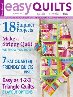 Patriotic Pinwheels - Easy Quilts - Quilt of Valor twin-size quilt project Quilting Tips, Quilting Projects, Twin Quilt Size, Sewing Magazines, Summer Quilts, Quilt Of Valor, Diy Baby Gifts, Book Quilt, Book Crafts