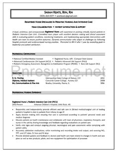 Student Nurse Resume Icu Rn Resume Sample Httpwwwrnresumecheckourrnresume