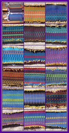 krokbragd samples, Cheri's Latest Weaving Project by Rashki, via Flickr