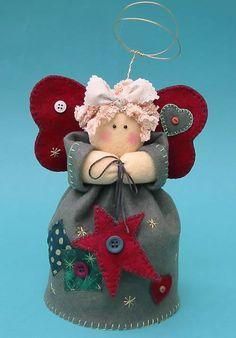 ANGELICA TREE TOP ANGEL - Felt Sewing Craft PATTERN - Xmas Christmas