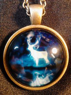 Stag Patronus Cabochon Necklace