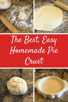 The Best, Easy Homemade Flaky Pie Crust Dutch Recipes, Baking Recipes, Dessert Recipes, Homemade Pie Crusts, Pie Crust Recipes, Homemade Desserts, Delicious Desserts, Yummy Food, Biscuits