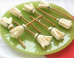Cheesesticks/pretzels.  31 creative & creepy Halloween foods   HellaWella
