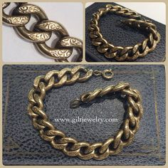 This c1940 Victorian Revival goldfilled bracelet would be awesome for holding charms or stacking with other gold bracelets. $165. Call to purchase. #giltjewelry #victorian #gilt #vintage #vintagegold #giltgirls #wearjewelseverday #vintagejewelry