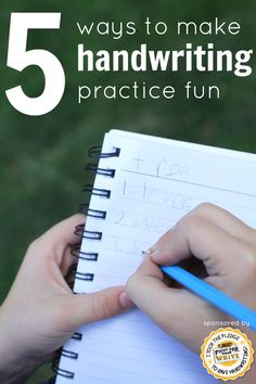 5 Ways to Make Handwriting Practice Fun:  Simple and enjoyable ideas that don't involve a worksheet (sponsored)
