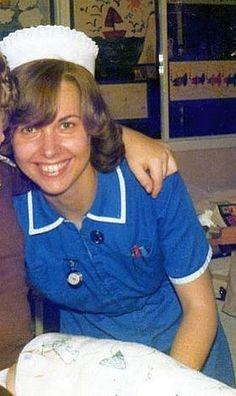 Nurse   Staff Nurse, 1980s.   Nurses Uniforms and Ladies Workwear   Flickr Ladies Workwear, 1980s Costume, Nurse Staffing, Vintage Nurse, Nurse Stuff, Nurses, Southern Prep, Work Wear, Lady