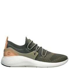 Timberland Men's FlyRoam™ Go Knit Oxford Shoes Dark Green Knit Jacquard Ankle Sneakers, Sneakers Mode, Slip On Sneakers, Leather Sneakers, Sneakers Fashion, Yellow Sneakers, Casual Sneakers, Casual Shoes, Yellow Boots