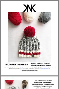 Knitted Hats, Crochet Hats, Stripes Design, Knitting Patterns, Knitting Ideas, Pattern Design, Winter Hats, Classic, Crocheting