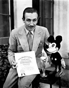 Walt Disney and his academy award for the creation of Mickey Mouse