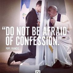 Catholic Teaching: The church welcomes us into reconciliation, it promotes the act of contrition and confessing our sins. We should not be afraid to confess our sins to God. Catholic Religion, Catholic Quotes, Catholic Prayers, Papa Francisco, Holy Mary, Catholic Confession, Confession Prayer, Year Of Mercy, Religious Education