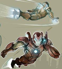 Iron Man studies by Nezart on DeviantArt Iron Man Pictures, Iron Man Poster, Fantasy Demon, Armor Concept, Marvel Universe, Marvel Comics, Character Design, Batman, Sketches