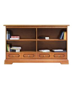 Bücherregal Niedrig 2 Einlegeböden Und Schubladen Schon Montiert Made In Italy Www Cabinet Drawersproducts